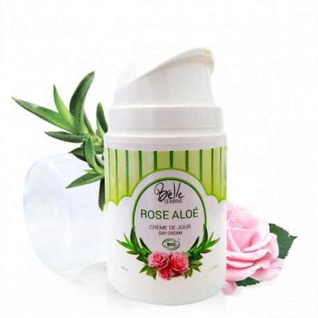 CREME Rose Aloe BELLE OEMINE certifiée BIO - airless 50 ml