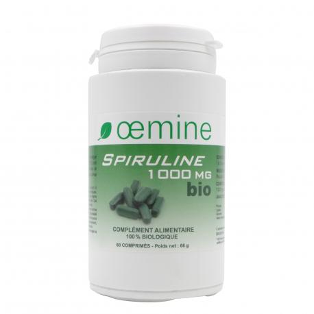 OEMINE SPIRULINE 1000 biologique - 60 comprimés